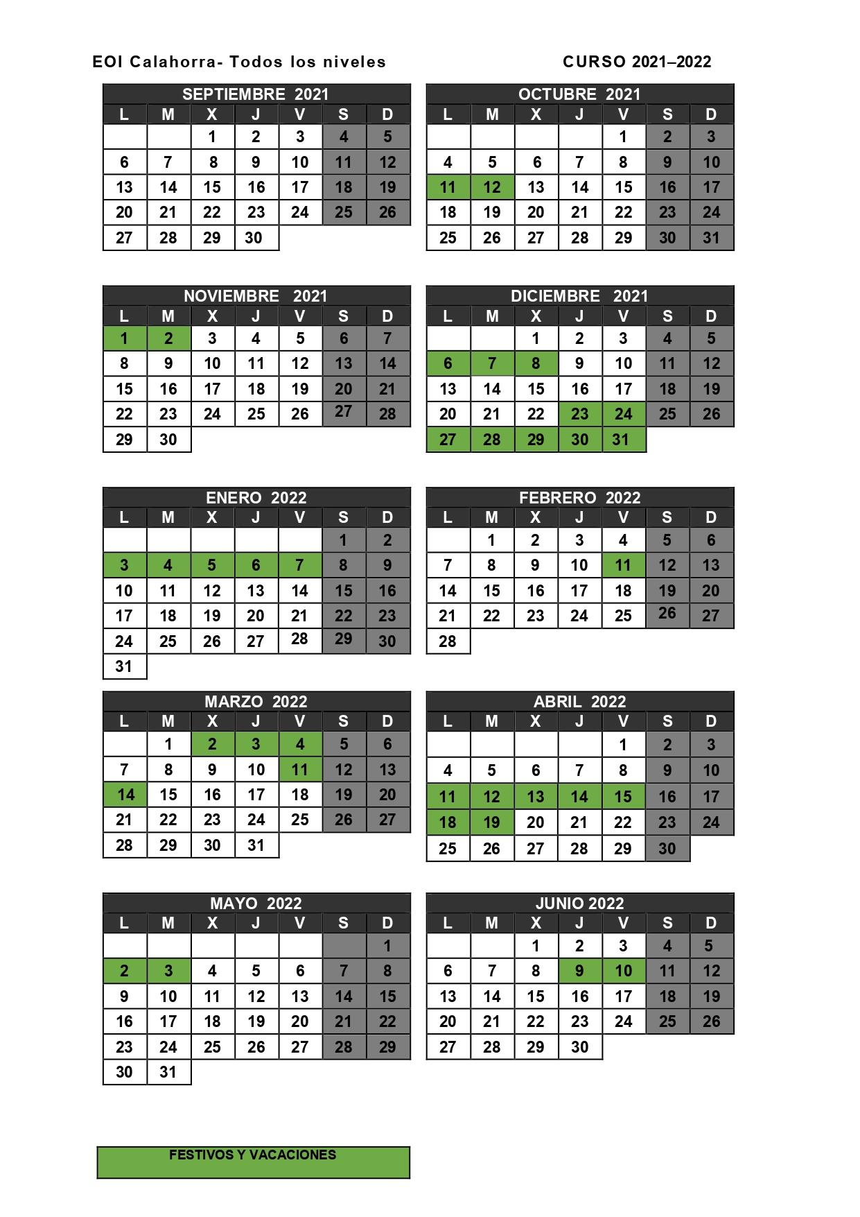 Calendario Calahorra 2020-2021